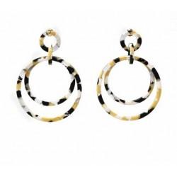 Acetate and Stainless Steel Hoop Earrings