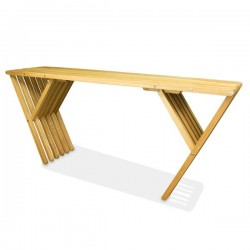 Oak Console Indoor Console Table Modern Design Clear Finish, X70
