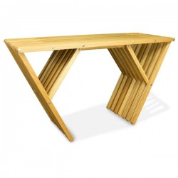 Oak Console Indoor Table Modern Design Wood Clear Finish, X90