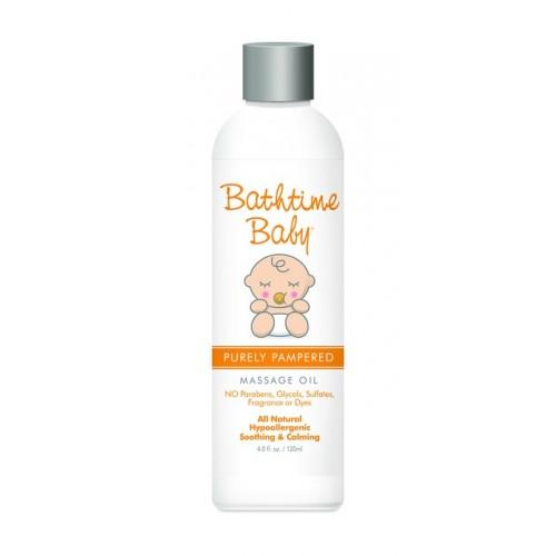 Bathtime Baby Purely Pampered Massage Oil 4.0 oz.
