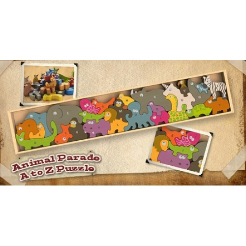 Begin Again Toys Animal Parade A-Z Puzzle