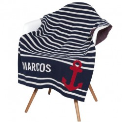 Eco Baby Anchor Personalized Throw