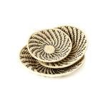 Cream Ugandan Sata Baskets with Black Spirals